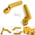 CNC Front Foot Pegs For GSX-S750 GSX-S1000F/Z 15-17 GSX250R V-STROM250 17 GSX-R 1000 09-15 GSX-R 600 750 08-15 Gold