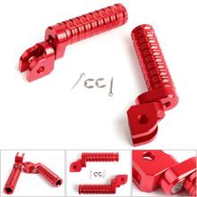 CNC Front Foot Pegs For GSX-S750 GSX-S1000F/Z 15-17 GSX250R V-STROM250 17 GSX-R 1000 09-15 GSX-R 600 750 08-15 Red