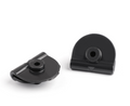 Side Battery Cover Clips for Harley Sportster 04-18 XL883 XL1200 4pcs Black