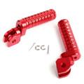 CNC Front Foot Pegs For CB600F 98-13 CB900F 02-07 CBF1000F 10-12 CBF600 08-10 CBR250R 11-14 VFR1200F 10-14 Red