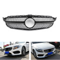 Front Diamond Grill Grille For Benz W205 C Class C250 C300 C400 2015-2018