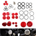 Upper Frame Plugs Caps Covers Set CNC Aluminum For BMW R1200GS ADV LC 14-18 Red