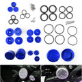 Upper Frame Plugs Caps Covers Set Aluminum For BMW R1200GS ADV LC 14-18 Silver
