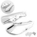 Mid-Frame Air Heat Deflector Trim Shield For Harley Touring Glide 2009-Latter Chrome