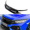 Type R Bumper Grille + 2 Pieces Eyebrows For Honda Civic 10th X FK8 2016-2018 Black