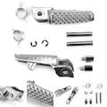 Front Foot Peg Footrest For Honda CBR1000RR 04-14 CBR600RR 03-14 CB1000R 08-11 VTR1000 SP-1 00-01 Silver