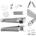 Rear Foot Peg Footrest For Honda NT650 Deauville 98-07 NTV650 88-97 NT700 Deauville 06-09 NC700 12-15 Silver