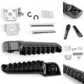 Rear Foot Peg Footrest For Kawasaki ZZR1400 ZX14 06-13 ZZR1200 00-06 ZX-10R 04-12 Black