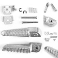 Rear Foot Peg Footrest For Kawasaki EX250 NINJA 250 EX300 NINJA 300 13-15 Silver