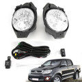 Front Fog Light Pair For Toyota Hilux Vigo Mk6 2008-2011 Black