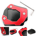 Sidestand Plate Kickstand Extension Pad CNC Aluminium For BMW F800GS 08-16 Red