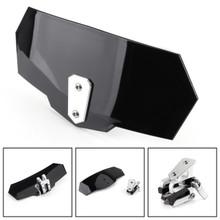 Universal Adjustable Windshield Extension Deflector For Honda Yamaha Black