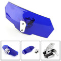 Universal Adjustable Windshield Screen Extension Deflector For Honda Yamaha Blue