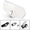 Universal Adjustable Windshield Extension Deflector For Honda Yamaha Chrome