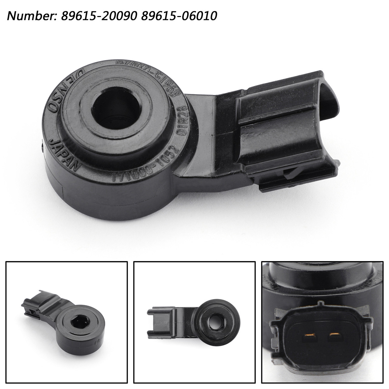 Engine Knock Sensor 8961506010 89615-20090 Fit For Toyota Corolla Matrix  Black