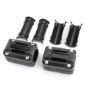 22mm 25mm 28mm Engine Frame Bar Slider Pads Black