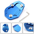 Kickstand Side Stand Enlarger Plate Pad For BMW R NINE T 2017 Blue
