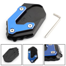 CNC Kickstand Side Stand Plate Extension Pad For BMW R1200GS LC 2017-2018 Blue