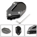 CNC Kickstand Side Stand Plate Extension Pad For BMW R1200GS ADV 2017-2018 Black