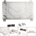Radiator Cooler Grille Guard Cover Protector For Kawasaki Ninjia 400 2018 Silver