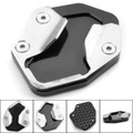 CNC Kickstand Side Stand Plate Extension Pad  For TRIUMPH TIGER800 XR XCA XRX XRT 2017-2018 Black