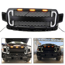 LED DRL Raptor Style Conversion Grille For F150 F-150 2018-2019