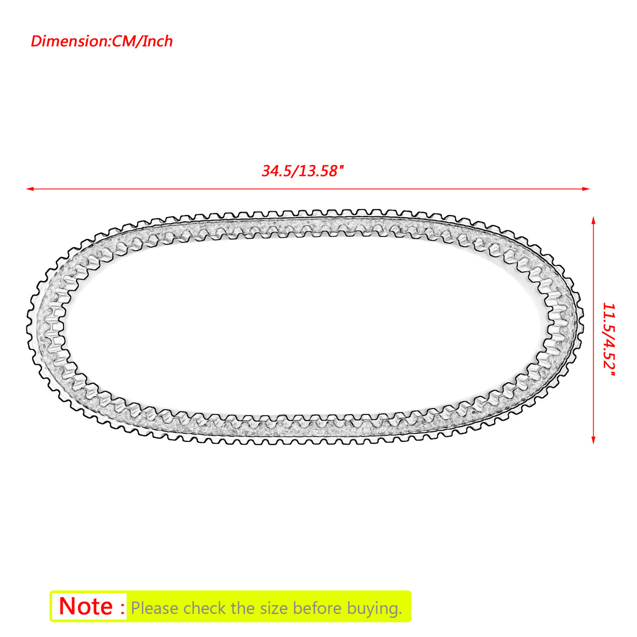 Drive Belt For Honda Ruckus 2003-2017 NPS50S Zoomer 2004-2009