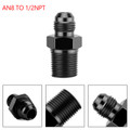 1PC AN8 TO 1/2NPT ORB-8 Straight Fuel Oil Air Hose Fitting Male Adapter Black