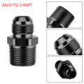 1PC AN10 TO 3/4NPT ORB-10 Straight Fuel Oil Air Hose Fitting Male Adapter Black