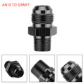 1PC AN10 TO 3/8NPT ORB-10 Straight Fuel Oil Air Hose Fitting Male Adapter Black