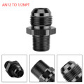 1PC AN12 TO 1/2NPT ORB-12 Straight Fuel Oil Air Hose Fitting Male Adapter Black
