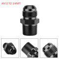 1PC AN12 TO 3/4NPT ORB-12 Straight Fuel Oil Air Hose Fitting Male Adapter Black