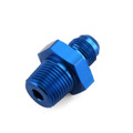 1PC AN8 TO 1/2NPT ORB-8 Straight Fuel Oil Air Hose Fitting Male Adapter Blue