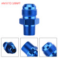 1PC AN10 TO 3/8NPT ORB-10 Straight Fuel Oil Air Hose Fitting Male Adapter Blue