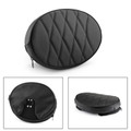Driver Backrest Cushion Pad For Road King Touring Models Street Glide Road Glide 97-17 Black