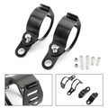 Front Turn Signal Light Bracket Holder Fork Bar Mount Clamp Holder 41-51mm Front Fit Most of Motorcycle,Street Bikes, Sport Bikes, Chopper Black