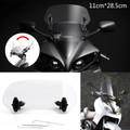 Adjustable Clip On Windshield Extension Spoiler Wind Deflector fit for Honda Yamaha Suzuki Kawasaki BMW KTM Aprilia Ducati Clear