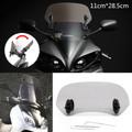 Adjustable Clip On Windshield Extension Spoiler Wind Deflector fit for Honda Yamaha Suzuki Kawasaki BMW KTM Aprilia Ducati Smoke