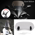 Adjustable Clip On Windshield Extension Spoiler Wind Deflector fit for Honda Yamaha Suzuki Kawasaki BMW KTM Aprilia Ducati Smoke