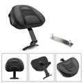 Driver Rider Backrest Kit For Fatboy Heritage Softail Models 07-17 Anniversary FLSTF 08 Black