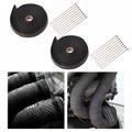 "2PCS 4/5"" 50Ft Fiberglass Exhaust Header Pipe Heat Wrap Tape + 10 Ties Kit Black"