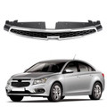 Front Upper Grill Inserts Trim Covers For Chevrolet Cruze 2009-2014 Black