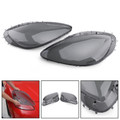 Pair Left Right Head Light Lenses Replacement Covers Smoke For C6 Corvette 05-13 Gray