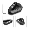 Kickstand Side Stand Plate Extension Enlarger Pad For YAMAHA YZF R6 17-19 Black