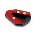 Kickstand Side Stand Plate Extension Enlarger Pad For YAMAHA YZF R6 17-19 Red