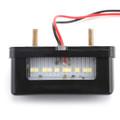LED Rear Tail License Plate Brake Number Plate Light Mini Taillight Black