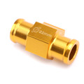 22mm Water Temperature Joint Pipe Sensor Gauge Radiator Hose Adapter Kit Gold