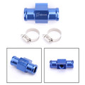 22mm Water Temperature Joint Pipe Sensor Gauge Radiator Hose Adapter Kit Blue