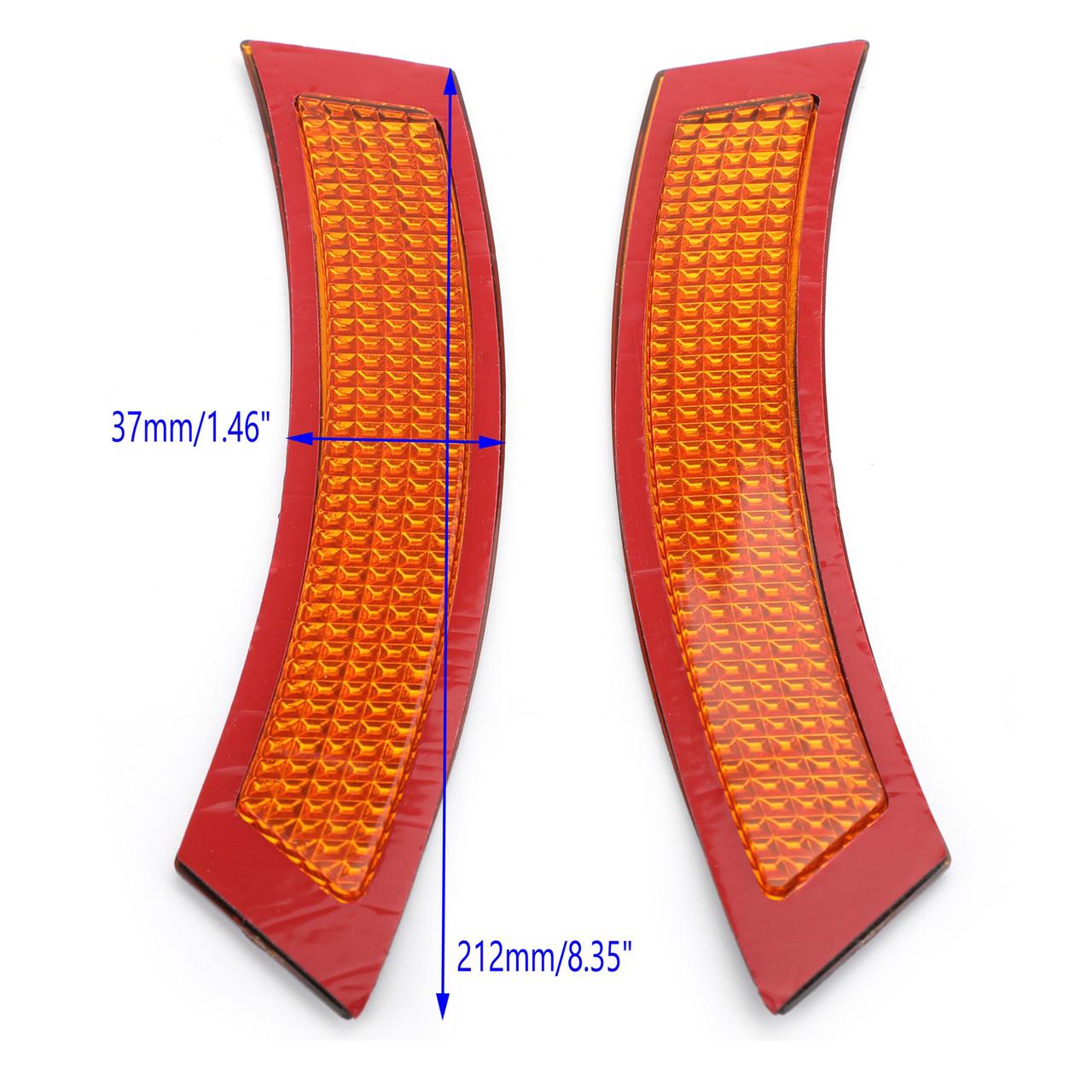 Overun Front Side Marker Fender Bumper Replacement Reflector Amber Lens Designed for 2007-2013 E92 E93 2DR