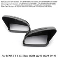 Fiber Rearview Mirror Cover For BENZ C E S GL Class W204 W212 W221 09-13 Carbon